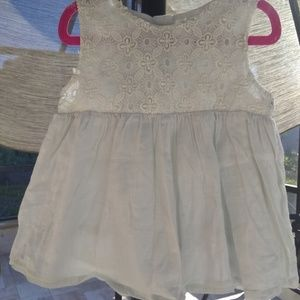 Genuine Kids White lace peasant top toddler girl